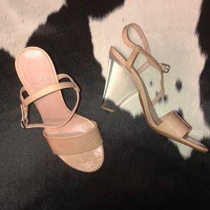 "Stuart Weitzman Shoes - Stuart Weitzman ""The One"" clear luttice nude heels"
